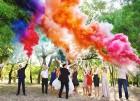 Цветной дым для свадьбы в Южно-Сахалинске